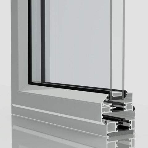 Chamfered Aluminium Windows